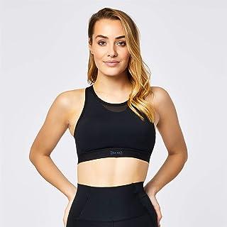 USA Pro Womens Ladies Medium Sports Bra Training Crop Tops T Shirt Tee Black 22 (XXXXL)