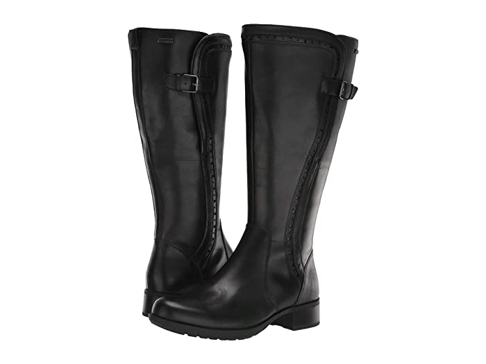 Rockport  Copley Tall Wide Calf Waterproof Boot (Black) Womens Boots