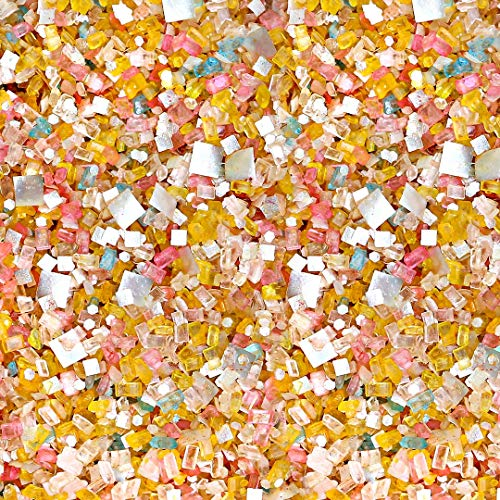 It's A Party Glittery Sugar| Yellow Easter Rainbow Colorful Candy Sugar Crystals Sprinkles Mix For Baking Edible Cake Decorations Cupcake Toppers Cookie Decorating Ice Cream Toppings, 2OZ(Sample Size)