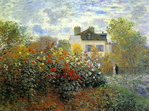 DIY Digital Painting by Number Monet's Impressionist Painting The Garden of Monet at Argenteuil