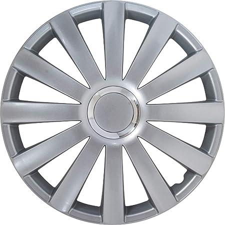 Satz Radzierblenden Spyder 15 Zoll Silber Chrom Ringe Auto