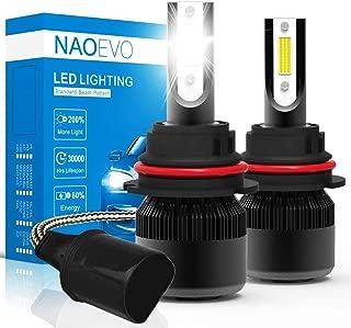 9004 LED Headlight Bulb,NAO HB1 Car LED Headlights Conversion Kit,60W 6400LM 6500K