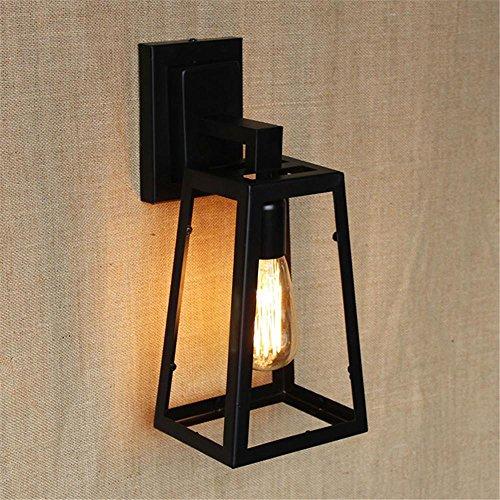 NIHE E27 lampe salon minimaliste chambre personnalité créative antique Continental forgé lampe mur fer vent industriel