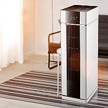 XZJJZ Cerámica Forzado Calefacción Ventilador con Stay Cool Vivienda - Torre con Control Remoto, termostato Digital, Temporizador, Gran Pantalla de Temperatura y el Modo Eco eficiente
