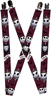 Buckle-Down Suspenders - Nightmare Before Christmas Jack Face/corpse 2 Accessory