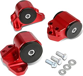 For Honda/Acura B and D-Series MT Hydro Trans Motor Engine Mount Kit (Red) - EH EJ EG DB DC