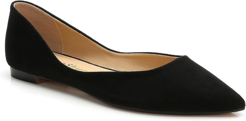 ComeShun Womens shoes Pointed Toe Flats Comfort Dress Pumps