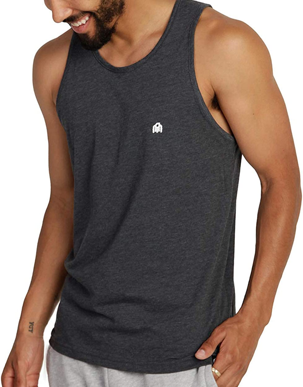 INTO Bargain THE AM Men's Wholesale Basic Tank Muscl - Sleeveless Soft Tops Fitted
