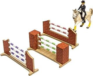 Blanca + ESTRUCMADER Rojo//Azul//Verde//Amarillo//Negro Barra de Salto de h/ípica para Caballos de 350x9cm Decorada