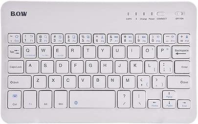 YuandCheng Praktischer minimalistischer Stil Tragbare ultrad nne Bluetooth drahtlose wiederaufladbare Tastatur Fall for iOS Android Windows wei Kann Spiele Spielen Schätzpreis : 9,90 €