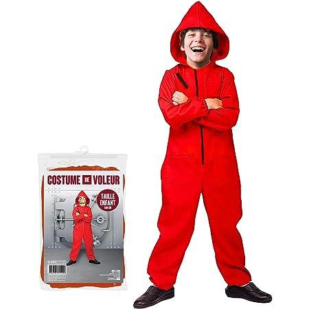 La Casa De Papel Masque Avec Costume Rouge Film La Maison du papier La Casa De Papel cosplay enfants adultes Party Halloween Masque Argent Heist Costume /& Masque Carnaval costume f/ête habiller