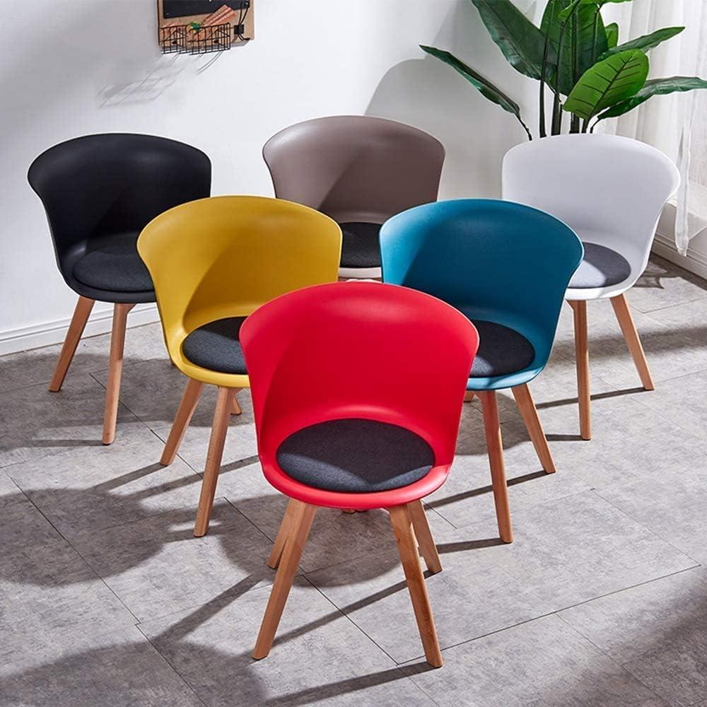 HOMRanger Creative Home Chaise de Bureau Minimaliste Moderne Chaise en Bois Massif Chaise Longue Multicolore en Option (Taille: 44X44X75.5cm) (Couleur: C) 1