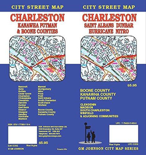 Charleston / Kanawha Co / Putnam Co / Boone Co, WV Street Map
