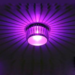 5W LED Eclairage encastré plafond LED Intégrée Appliques Lampe Multicolor Facultatif Aluminium Chrome Ø13CM Spots de plafo...