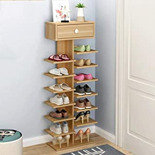 NSYNSY Meuble à Chaussures, étagère à Chaussures en Bois avec Support à tiroir Organisateur de Rangement Debout pour 12-14...