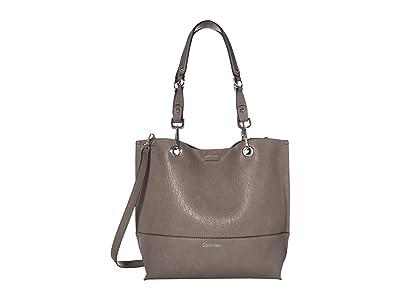 Calvin Klein Sonoma Reversible Novelty Tote (Asphalt) Tote Handbags