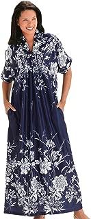 AmeriMark Long Length Caftan Hawaiian Mu Mu Lounger Short Sleeves with Pocket