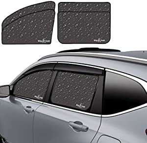 Big Ant Car Window Shades Premium Car Sun Shades For Kids Baby Drivers Block Rays Fit For Most Vehicles- 4 Pack