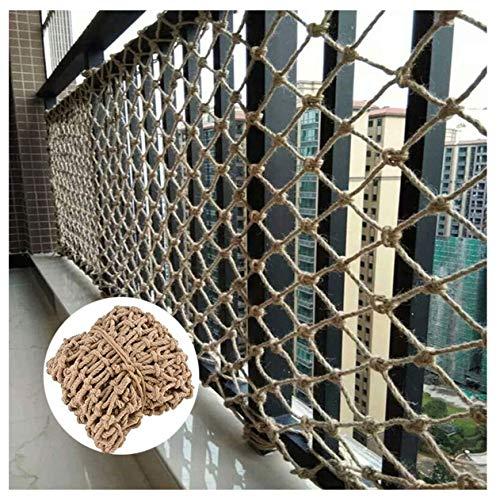 Netz Kinder Klettern Sicherheitsnetz, Hanfseil, Treppe Anti-Fallen-Netz Balkon Partition Malerischen Zaun Fenster Barriere Etagenbett Schutznetz Foto Wanddekoration Netz, 2x5m ( Size : 1*5m(3*16ft) )