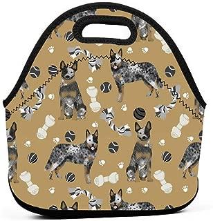 オーストラリアの牛犬のおもちゃ - 犬のおもちゃ、犬、犬の品種、牛犬 - ブルーヒーラー - ブラウンランチバッグ断熱サーマルランチトートアウトドアトラベルピクニックキャリーケースランチボックスハンドバッグジッパー付き
