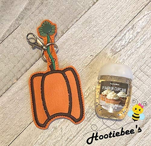Pumpkin Hand Sanitizer Holder Key Fob