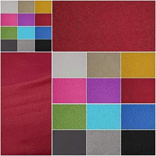 Verdunklungsstoff, blickdicht – Meterware ab 50cm in 9 Unifarben. 100% Polyester - schwere Qualität - Thermo-Rückseite - Textiloberfläche- waschbar   Blackout – für Vorhänge und Raumtrenner (weinrot)
