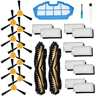 SODIAL Accessories Kit for Ecovacs Deebot N79S N79 Robotic Vacuum Cleaner Filters,Side Brushes,Main Brush …(2+1+10+10)