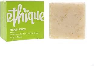 Ethique Eco-Friendly Solid Shampoo Bar for Dandruff & Touchy Scalps, Heali Kiwi - Sustainable Natural Shampoo, Plastic Free, 100% Soap Free, Vegan, Plant Based, 100% Compostable and Zero Waste, 3.88oz
