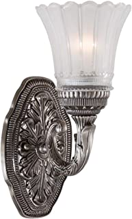 """Europa Collection 11 1/4"""" High Brushed Nickel Wall Sconce"""