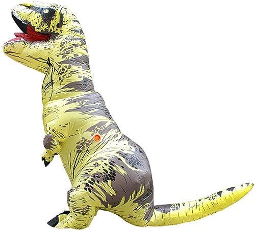 barato en alta calidad RNGNBKLS T-Rex Dinosaurio Carnaval Disfraz Inflable Inflable Inflable De Halloween Blow Up Disfraz Disfraz Mascarada Traje De Aire,D-150-190cm  tienda de venta