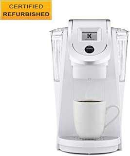 Keurig K200 Certified Refurbished Coffee Maker, Single Serve K-Cup Pod Coffee Brewer, With Strength Control, White