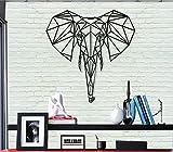 Art mural en métal Tête d'éléphant géométrique Décoration murale en métal Décoration d'intérieur Chambre Salon Décor