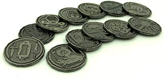 Dice Dungeons Character Coin Metal Tokens for RPG and Tabletop Games – Set of 12 Class Miniatures