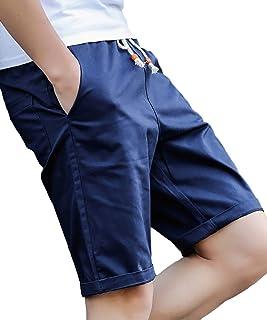 [メリュエル)] 11カラー M~2XL 選べる2タイプ スマート シルエット カジュアル ハーフ チノ パンツ 春 夏 秋 ファッション メンズ