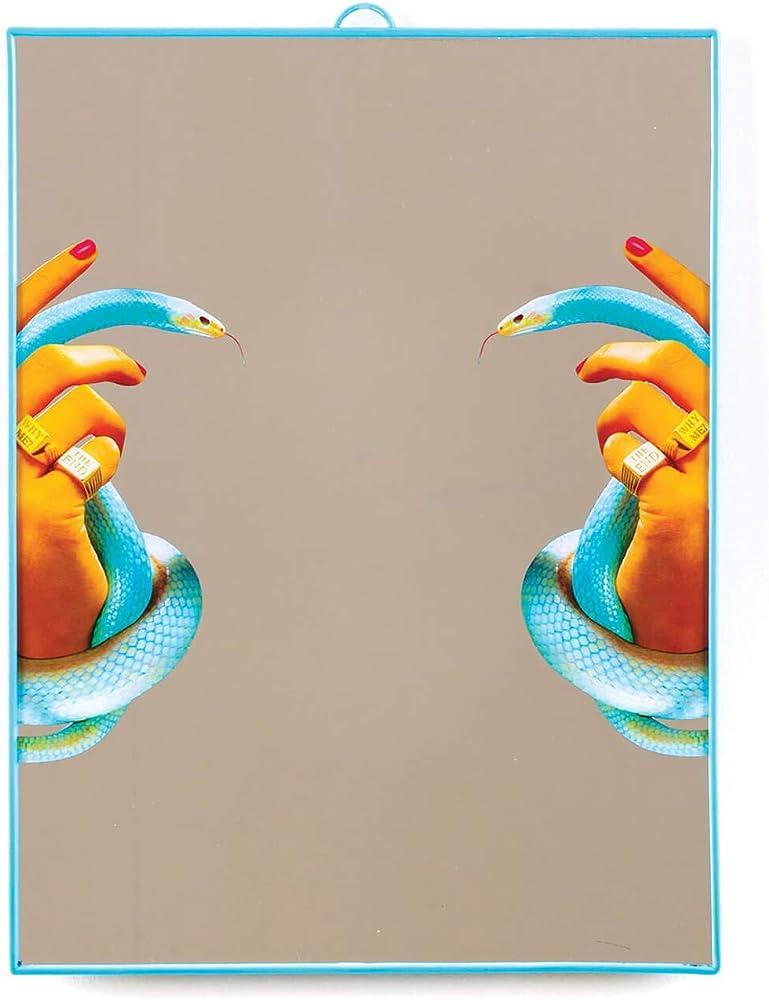 Seletti wears toiletpaper plastic mirrors, specchio, grande/hands with snakes,in vetro e plastica 8008215171258
