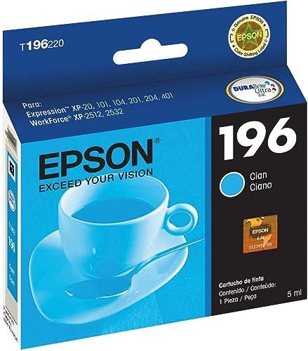 Cartucho de Tinta Epson 196 Ciano T196420 para XP-401 e XP-411
