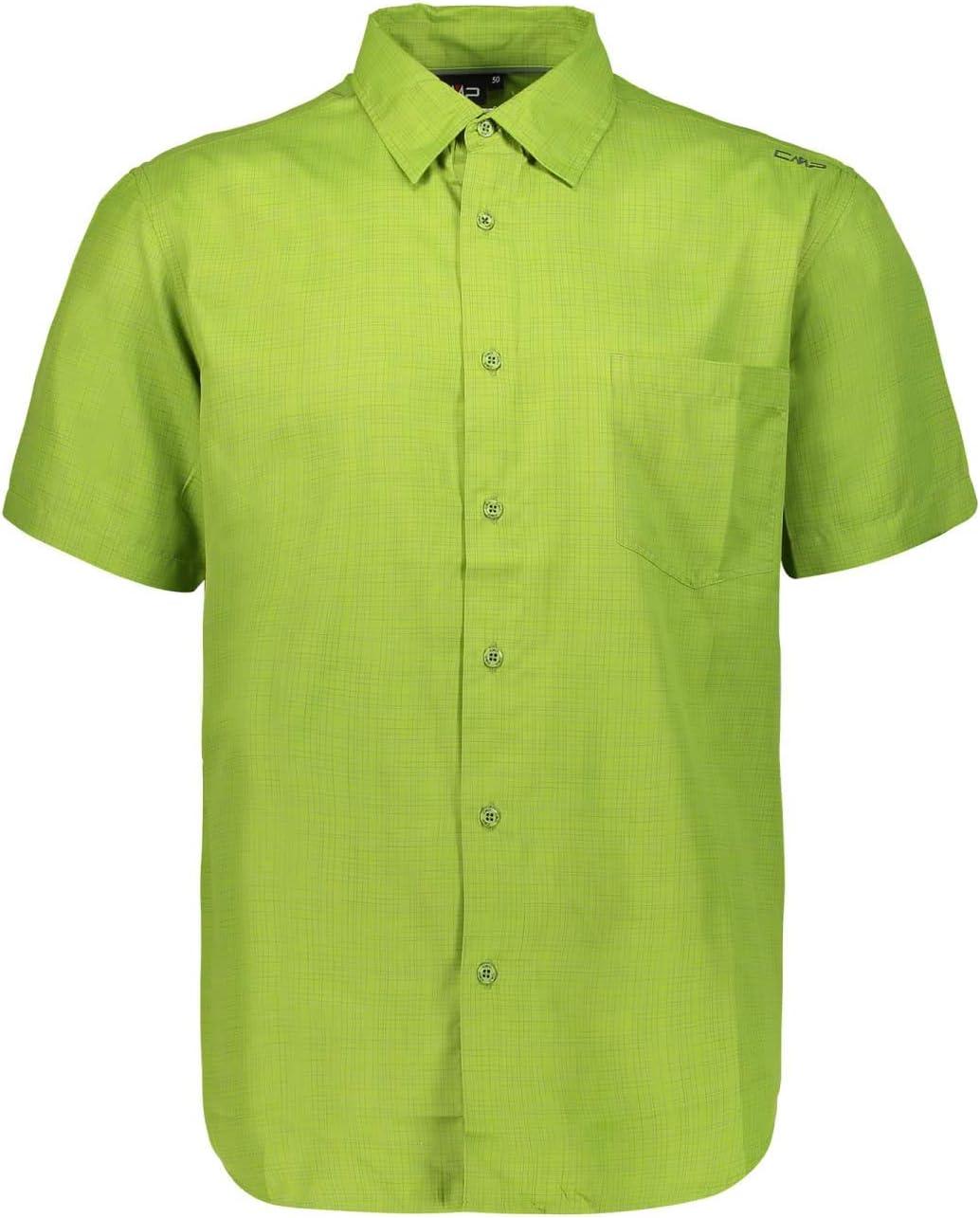 CMP Camicia A Maniche Corte con Tecnologia Dry Function Camisa, Hombre