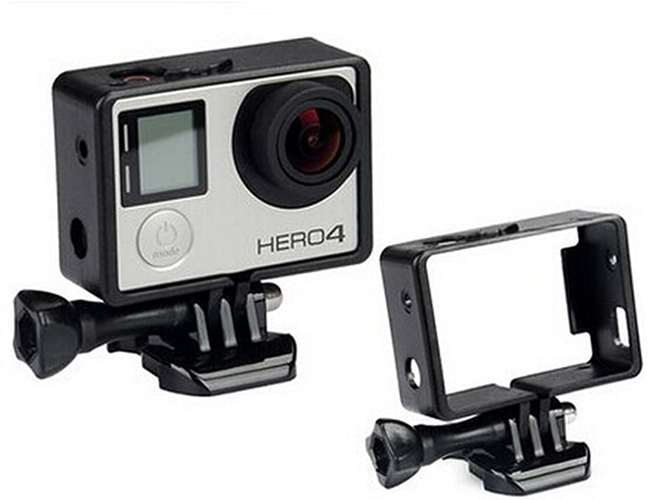 Asien Black Frame Clear View Protective Skeleton Housing Case Shell with Lens for Gopro Hero 3+ Hero 4