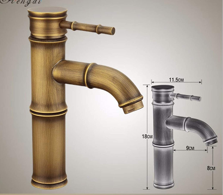 GiiWii Faucet Retro Slub Metal Brass for Kitchen Pots Bathroom Washbasin,B