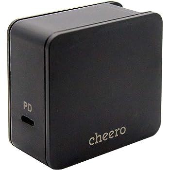 cheero USB-C PD Charger 45W (パワーデリバリー対応 充電器 アダプタ) 対応機種へ超高速充電 折り畳み式プラグ 1ポート CHE-326