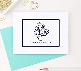 Monogram Stationary Set, Personalized Stationary Set, Personalized Monogram Stationery Set, Monogrammed Stationary Set, Your Choice of Colors and Quantity