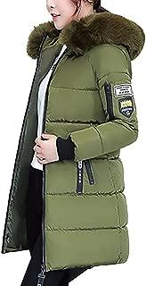 Womens Long Coat E-Scenery Winter Jacket Warm Overcoat Slim Thicker Parka Lammy Outwear