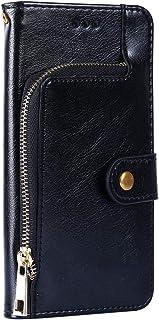 PTTBK etui do Apple iPhone SE 2020 otwierane etui ochronne w stylu portfela etui skórzane z zamkiem TPU silikonowa stała o...
