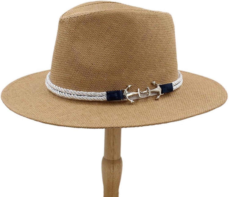 XDH-RTS Summer Beach Beach Beach Panama Hat Men Straw Wide