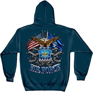 Erazor Bits air Force Hoodie for Men | Double Flag Air Force Hooded Sweat MM2150SW