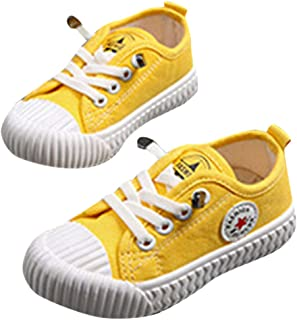 Hopscotch Baby Boys Canvas Lace Up Sneakers - Yellow