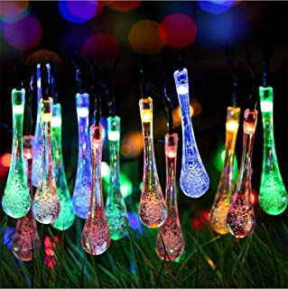 RAAJAOUTLETS 20LED Crystal Water Droplets String Lights for Diwali Christmas Party Indoor and Outdoor Decoration