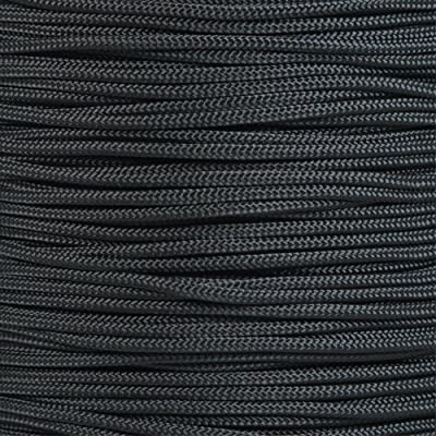 PARACORD PLANET 10, 25, 50, and 100 Foot Hanks of 425 Paracord (3mm) - Made of 100% Nylon for Tactical, Crafting, Survival, General Use, and Much More (Black, 10 Feet)