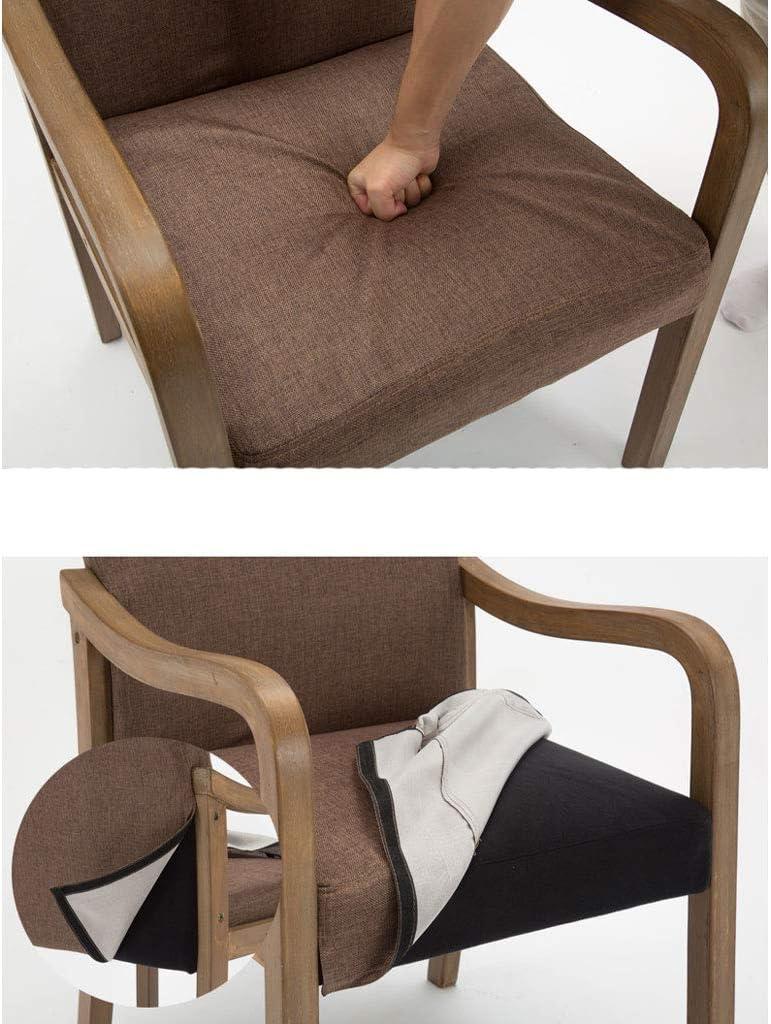 WDX- Chaise de salle à manger simple en bois massif avec accoudoir de restaurant, chaise de loisirs, chaise d'ordinateur pour adultes mode (Color : B, Style : 1) C
