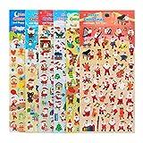 Pegatinas para niños Stickers for Kids Scrapbooking 300 Pegatinas de Navidad Pegatinas Adhesivas para Decoración Scrapbooking Envoltura de Regalos de Navidad